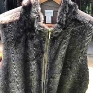 Chico's Zenergy Faux Fur Vest